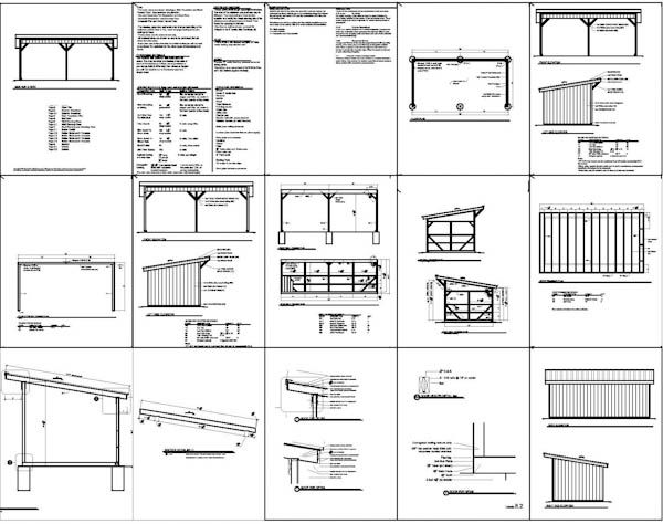 12x24 Run In Shed Plans With Lean To Roof Horse Barn Sheds Pinterest Outdoor Shelters