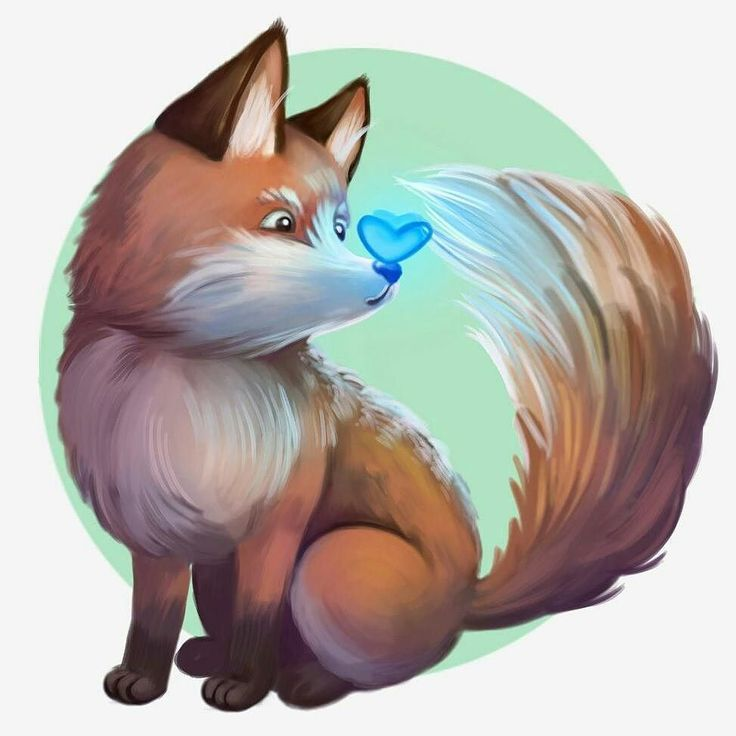 A lucky-cute fox for a lucky-fat Tuesday #fox #animal #pet #cute #kawaii  #sweet #adorable #art #artist #magic #illustration