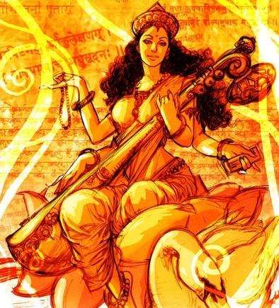 Sarasvati is the goddess of knowledge, music, arts and science