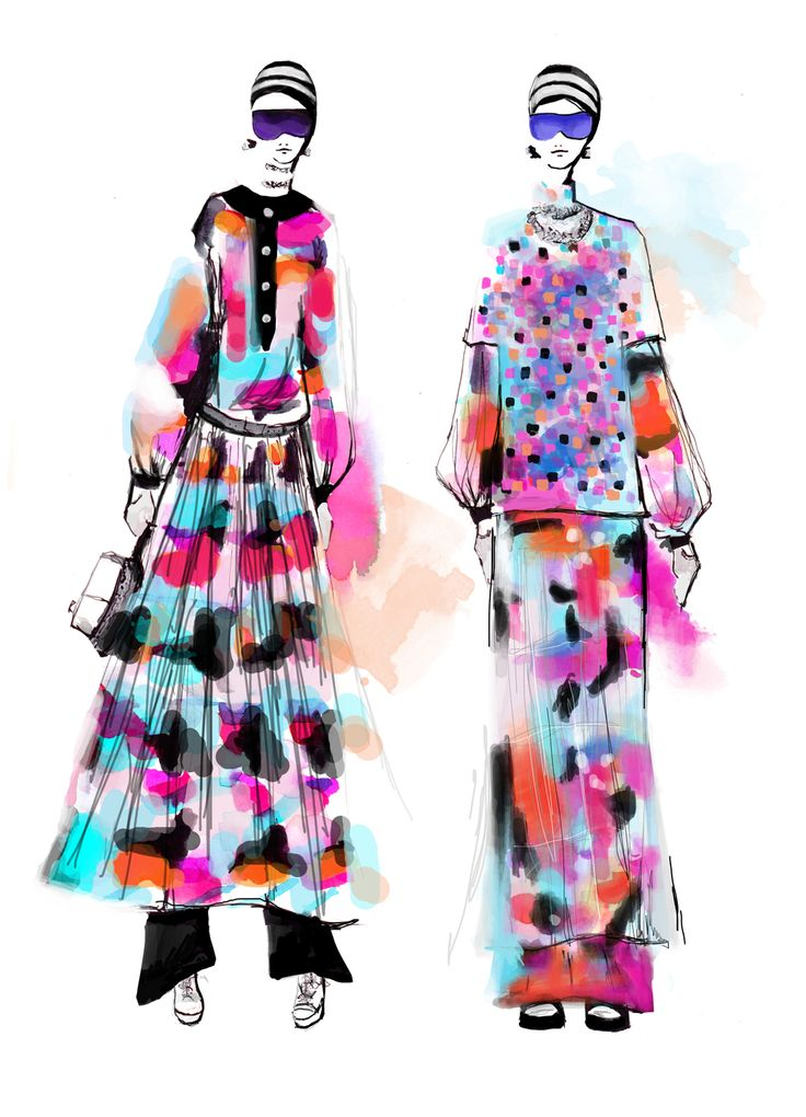 Chanel Spring 2016 Fashion Illustration by Stephanie Anne