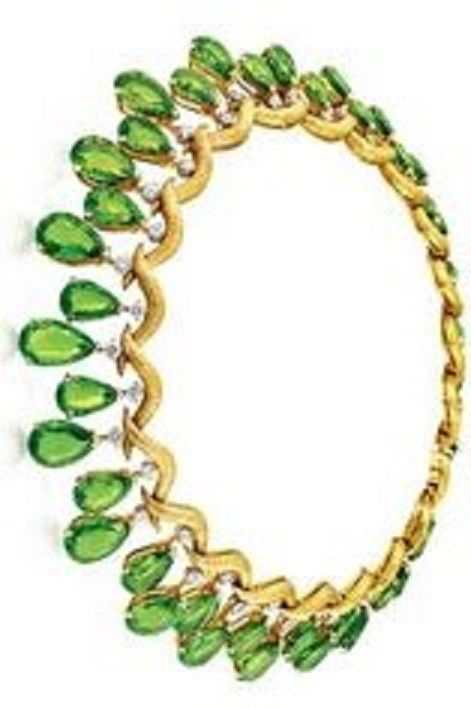 Cartier,,peridot necklace