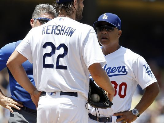 NL West-leading Dodgers lose Kershaw to DL with back injury