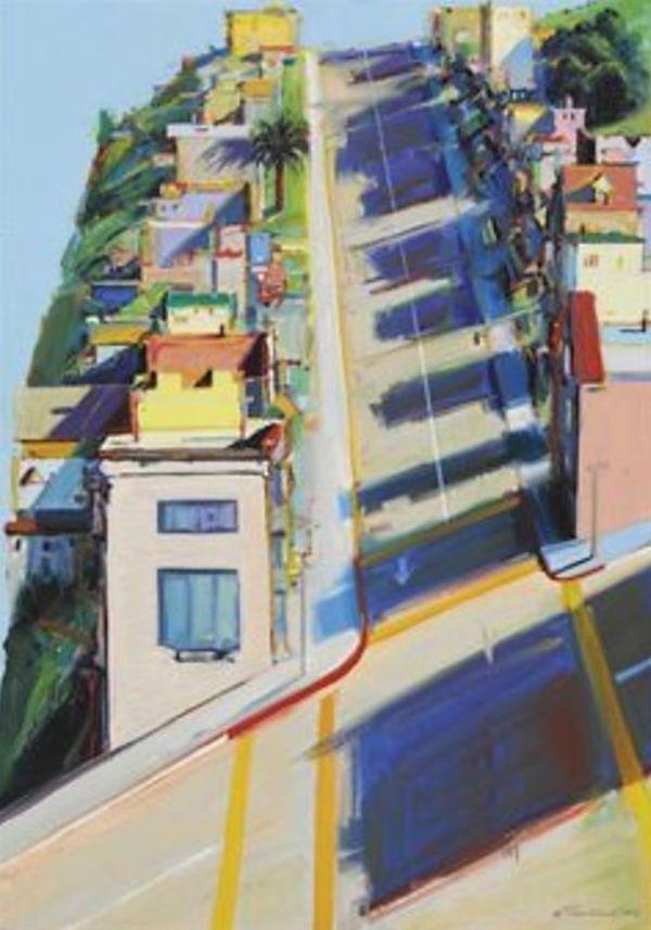 Ripley Street Ridge by Wayne Thiebaud at San Francisco Museum of ...