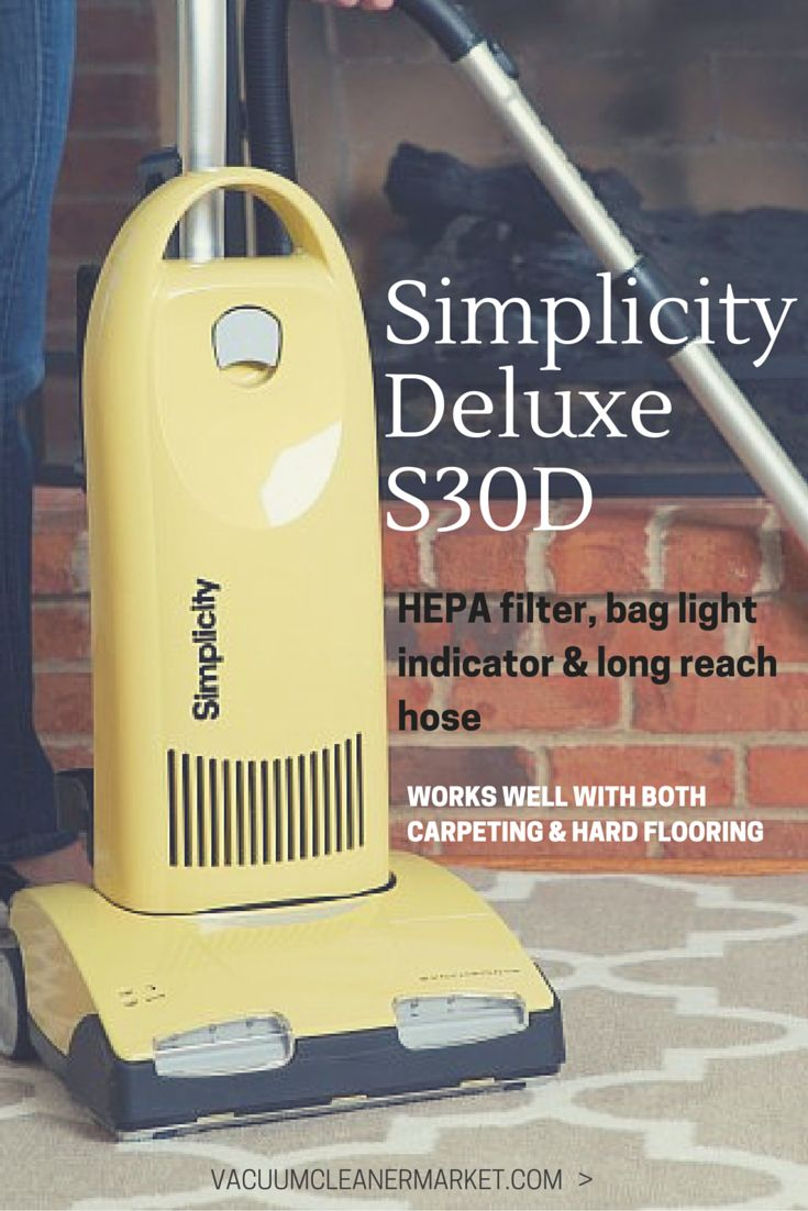 The Simplicity Synchrony Deluxe offers customers durability, high quality filtration, and many user and cleaning-friendly attachments.  #simplicity #vacuum #upright #vacuum #suction #vacuumsuction