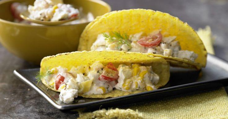 Gefüllte Tacos mit Schafskäse enthalten neben viel Kalzium auch 30 Prozent des Tagesbedarfs an Vitamin B6, C und E.