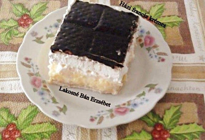 Házi franciakrémes sütés nélkül