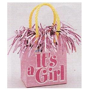 It's a Girl Mini Giftbag Balloon Weights