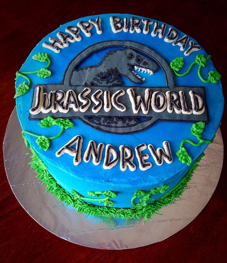 Jurassic World buttercream cake