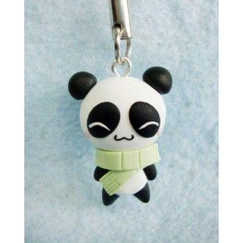 Winter Panda keychain & mobile accessories, llaveros , colgantes de movil, animal,invierno,oso,bear,xmas,navidad,