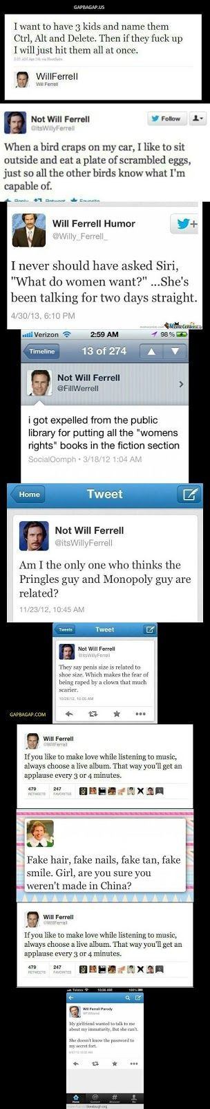 Top 10 #Funny Tweets By Will Ferrell