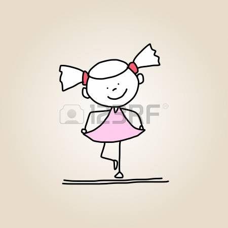 disegno a mano cartoon bambini felici che giocano photo