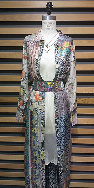 Boho Outfit Idea Johnny Was Clothing Mix Print Maxi Dress Silk