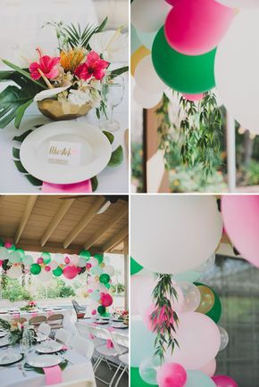 Tropical Inspired Bridal Shower