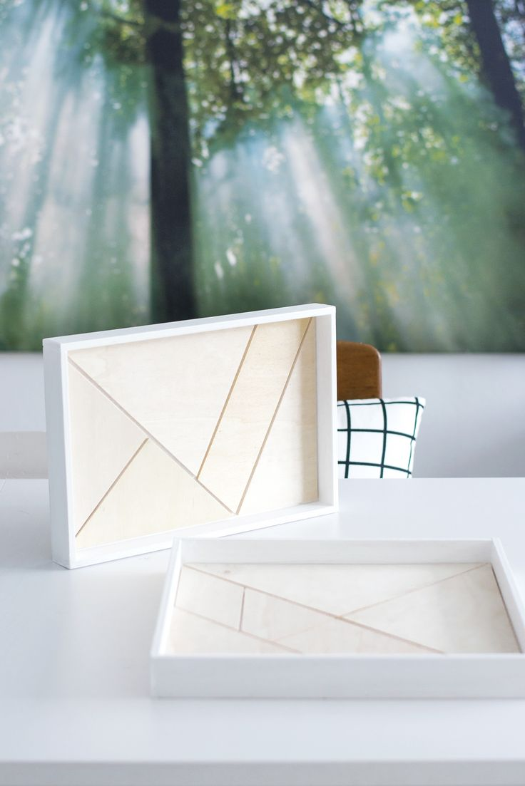[Nachmachtipp] Holz-Tablett mit Tangram Muster         |          s i n n e n r a u s c h