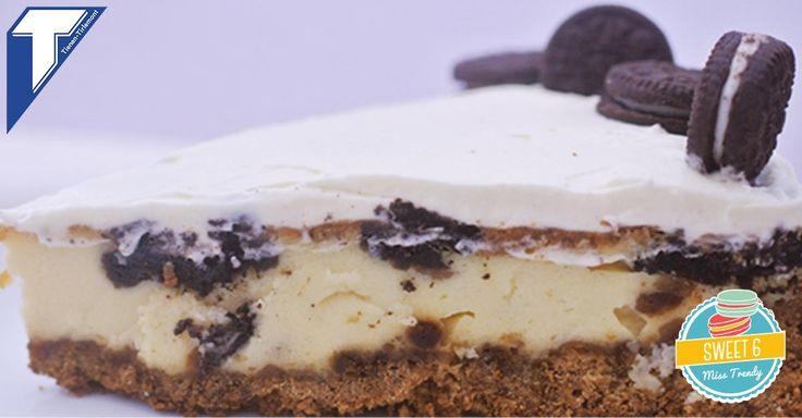 Cheesecake met koekjes