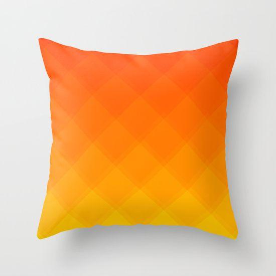 Pumpkin Tile pattern pillow