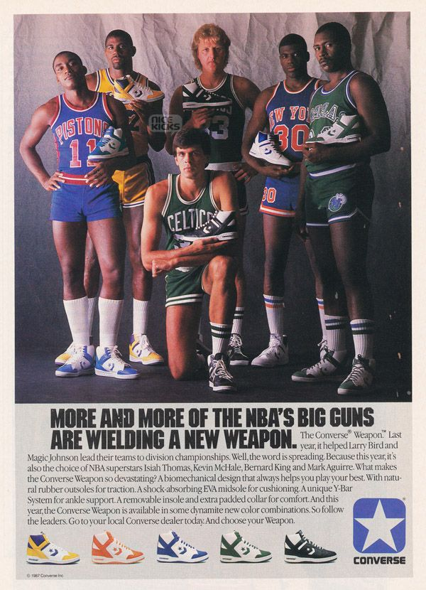 ad   check out the socks and shoes...THAT'S when basketball was REALLY fun to watch!