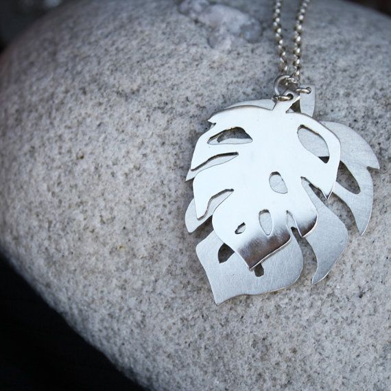leaf pendant delicious monster necklace two by LolaAndCash on Etsy, $77.00