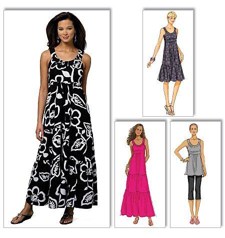 Misses' Tunic and DressBeach Dresses, Dresses Pattern, Summer Dresses, Dresses Butterick, Dresses Tops, Brides Dresses, Dresses Shorts, Maxis Dresses, Dresses B5637