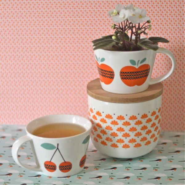 pot paon orange mr mrs clynk deco retro pinterest reinette paon et bocal. Black Bedroom Furniture Sets. Home Design Ideas