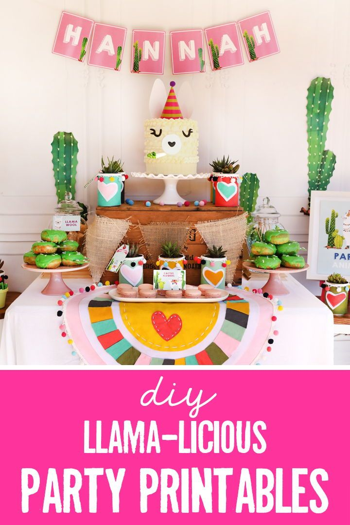 675594c218e6c Llama Party Decorations | Alpaca Cactus Theme | Llama Party Decor in ...