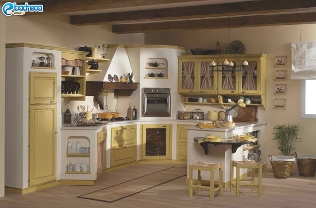 Built-in Country Kitchen--like some of the elements
