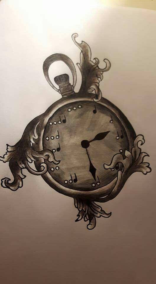 Orologio con note musicali.