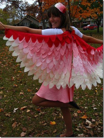 Darling Flamingo - other Bird Halloween Costumes. 3 FREE Sewing Patterns. Women + kids.