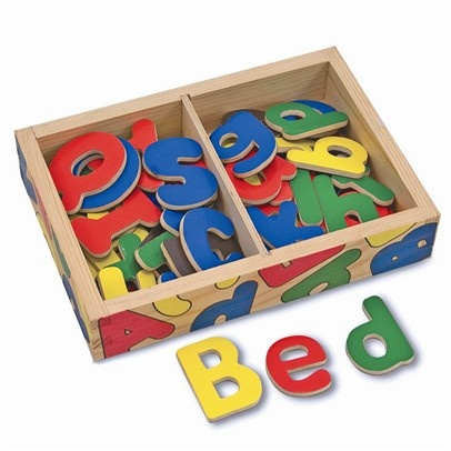 Magnetic alphabet (upper and lower case) (Melissa and Doug brand)