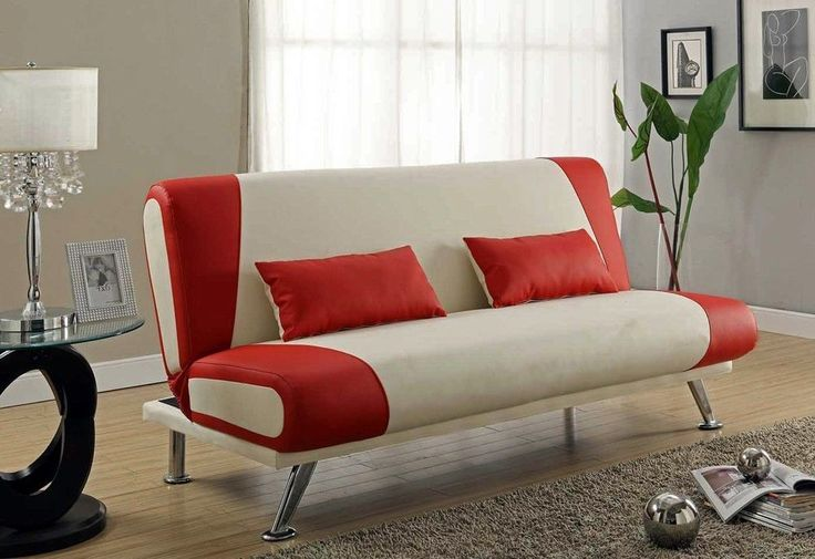 retro red white leatherette futon 1950 s coca cola 12760 | 2825f3d9805bee6c6c165182f12760b1 red and white futons
