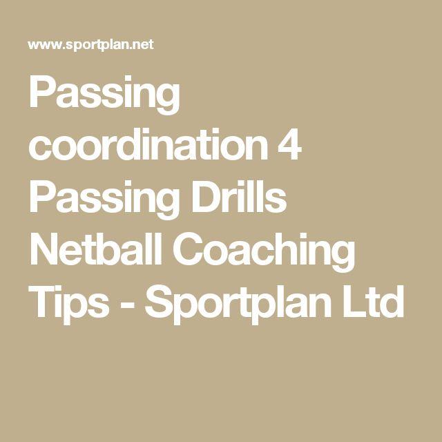 Passing coordination 4 Passing Drills Netball Coaching Tips - Sportplan Ltd