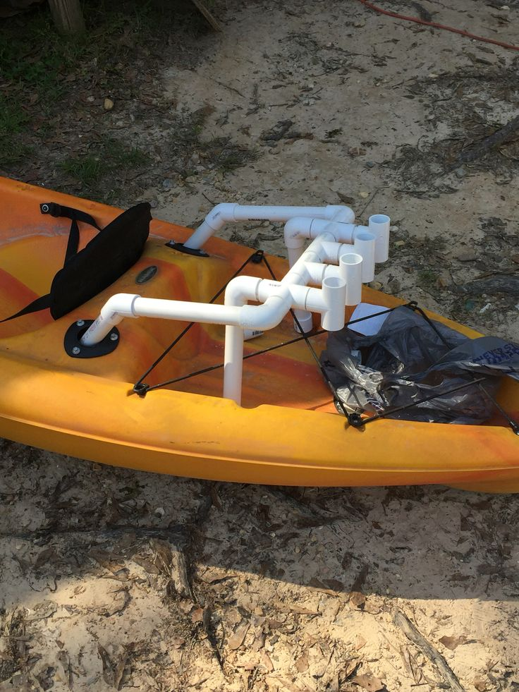 Diy pvc rod holder for kayak fishing made for 1 thin wall for Kayak fishing pole holder