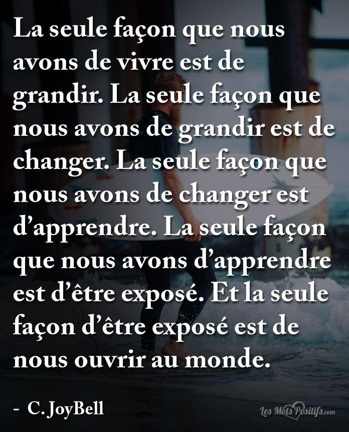 Citation Comment nous ouvrir au monde ? #citation #citationdujour #proverbe #quote #frenchquote #pensées #phrases #french #français