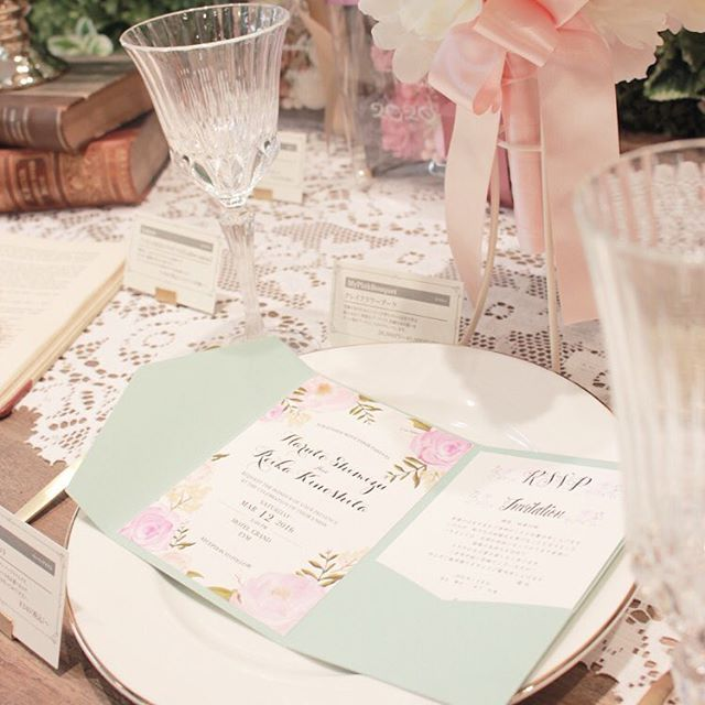 結婚式/招待状/ポケットフォルダー/海外風/おしゃれ/花柄/wedding/invitation/pocketfolder/flower