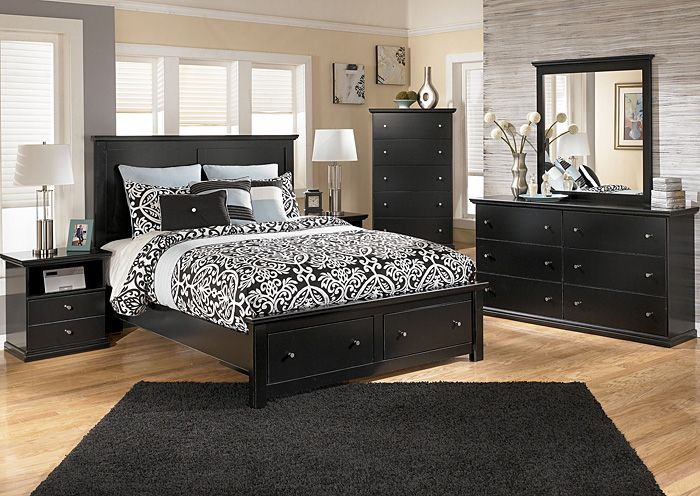 Furniture Outlet Chicago Il Maribel Queen Storage Platform Bed Dresser Mirror