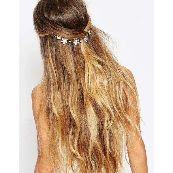 Johnny Loves Rosie Aisling Hair Piece (235 VEF) ❤ liked on Polyvore featuring accessories, hair accessories, silver, johnny loves rosie, jeweled hair accessories and floral hair accessories