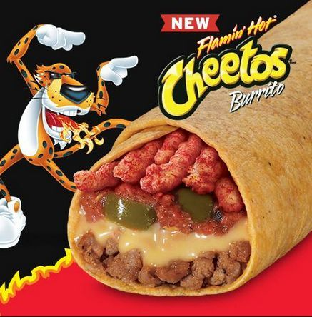 Crunchy Layered Burritos - Taco John's Introduces the Flaming Hot Cheetos Burrito for Foodies (GALLERY)
