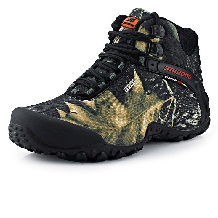 Fashion waterproof canvas hiking shoes boots anti-skid wear resistant breathable fishing climbing high sneakers | worth buying on AliExpress