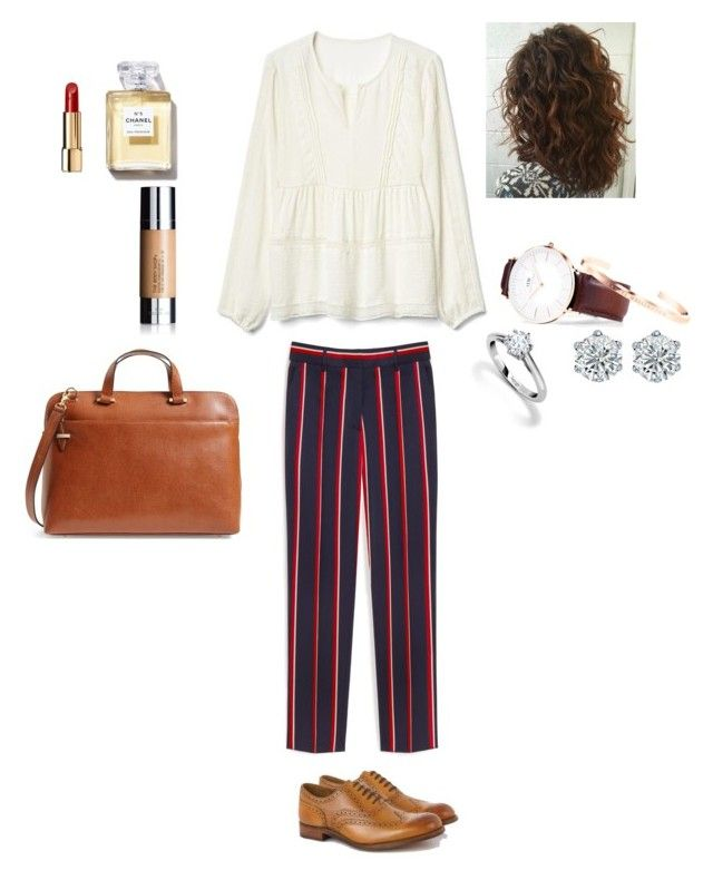 """""""Day At Work"""" by oakesie on Polyvore featuring Mulberry, Gap, Grenson, Chanel, The Body Shop, Lodis and Asprey"""