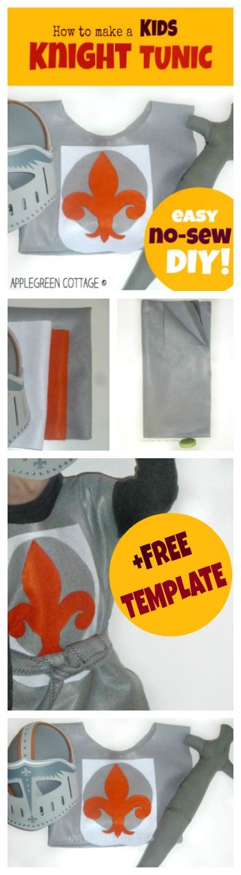 A quick and super easy DIY, no-sew knight costume for kids. Making one just now!!!