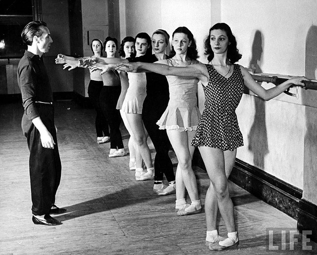 George Balanchine with the School of American Ballet?