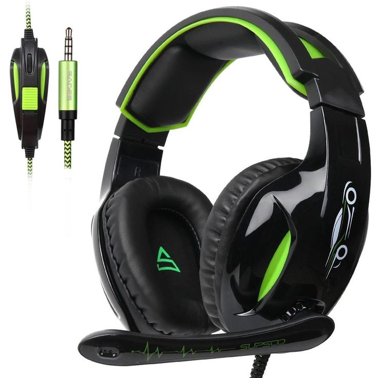 2017 Release SUPSOO G813 Xbox one PS4 Gaming Headset 3.5mm Wired Gaming Black Gr