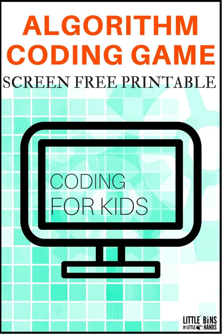 Printable algorithm coding game for kids. Screen free computer coding game teaches basics of sequence of actions. Build a base for computer science with a DIY coding game you can change around over and over again. Check out all the 28 Days of STEAM Projects for Kids for fun science, technology, engineering, art, and math activities!