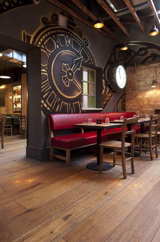 Kahrs Oak Casa Flooring installed at Jamie's Italian restaurant in York, UK.....