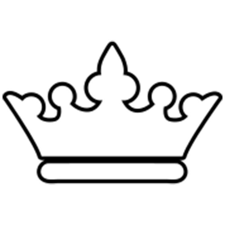 Раскраски Корона  королевская корона шаблон для бумаги