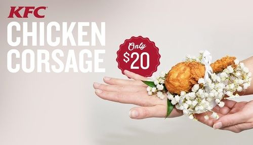 fried chicken corsage | No Joke: KFC Offers a Fried Chicken Corsage for Prom