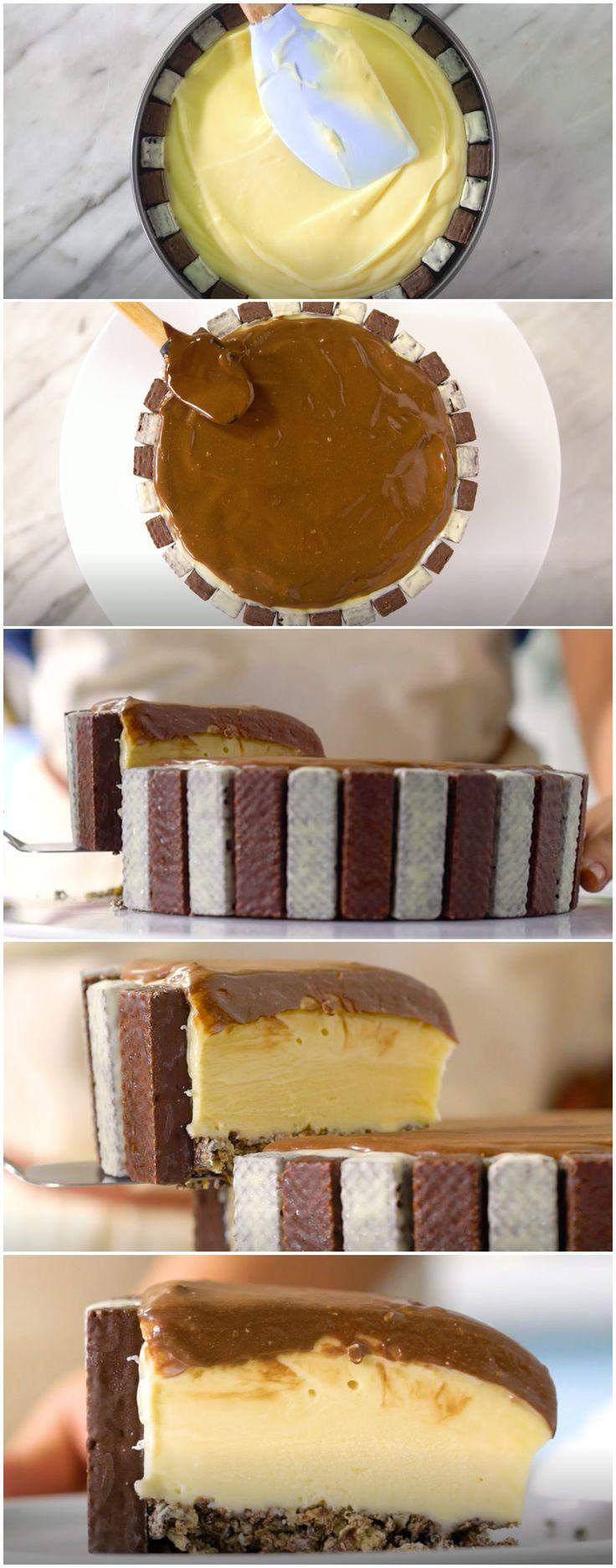 Uma das MELHORES sobremesas que eu já comi na vida! (veja a receita passo a passo) #sobremesa #tortagelada #tastemade