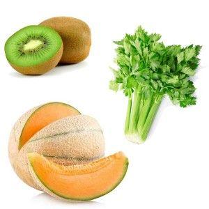 Centrifugato Dissetante al Kiwi, Melone e Sedano