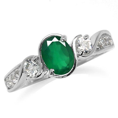Genuine Emerald Green Agate & White Topaz Gold Plated 925... https://www.amazon.com/dp/B01LWYERZZ/ref=cm_sw_r_pi_dp_x_3E9cybQHXVBKN