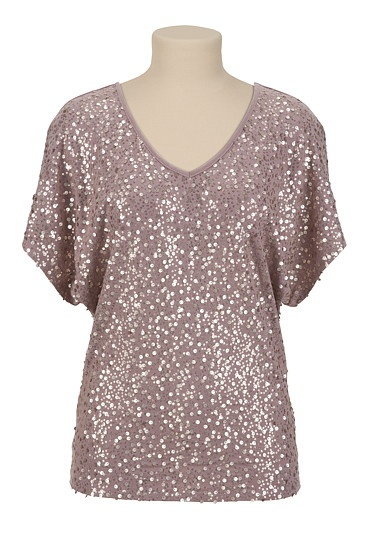 Rose Gold Sequin Tee available at #Maurices